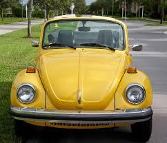 Vw Beetle Classic Interior Volkswagen Super Beetle Convertible 1975 Yellow W Black Top And