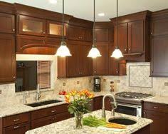 The Cabinet Store Apple Valley Cherry Cabinets Cambria Quartz Counters With Some Dark Flecks