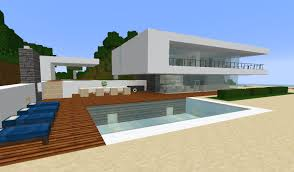 minecraft modern simple beach ocean weekend house estate villa