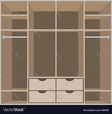 wardrobe room royalty free vector image vectorstock