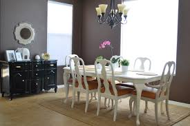 Upholstered Dining Room Chairs With Arms Remodelaholic Refinished Dining Room Table And Chair Re