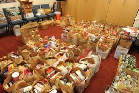 nov 23 2009 cua students collect 125 bags of groceries for