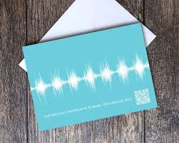 baby heartbeat sound wave cards gift birth pregnancy announcement