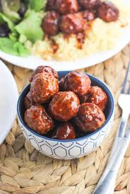 Easy Main Dish - sweet and spicy slow cooker meatballs