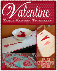 10 free valentine u0027s day table runner tutorials sew licious home