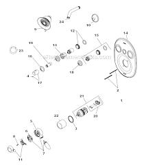Delta Monitor 1400 Series Shower Faucet Repair Delta Faucet T18255 Parts List And Diagram Ereplacementparts Com