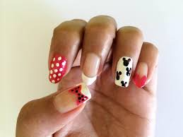 minnie mouse nail designs on five different nail shapes youtube