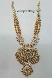 gold balls necklace with pendant jewellery designs