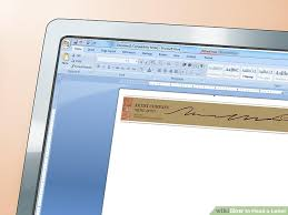 Business Letter Spacing Uk How To Head A Letter 12 Steps With Pictures Wikihow