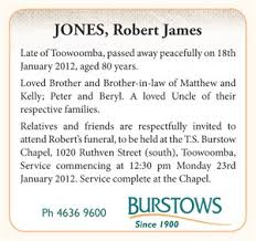 funeral service announcement wording the funeral notice burstows