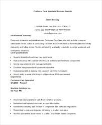 Resume For Customer Service Specialist Customer Service Resume 11 Free Word Pdf Documents Download