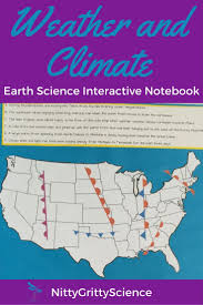 Weather Fronts Map Weather And Climate Earth Science Interactive Notebook Earth