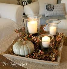 pretty candle decoration ideas for thanksgiving
