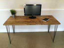 Rustic Wooden Desk Rustic Wooden Desk 150cm Wide Made From Reclaimed Scaffold