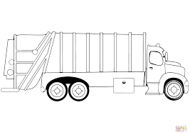 download coloring pages garbage truck pages eson