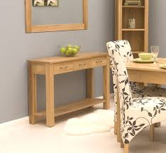 modern console tables with drawers conran solid oak modern furniture console hallway hall table ebay