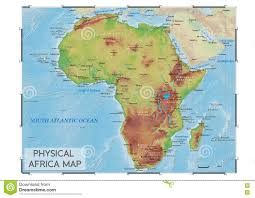 Africa Map With Capitals by Physical Africa Map Stock Vector Image 80884180