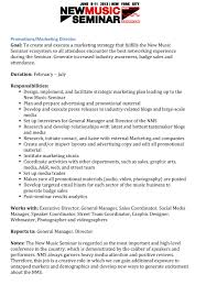 Music Resume Template The New Music Seminar Is Hiring U2013 The Music Business Network