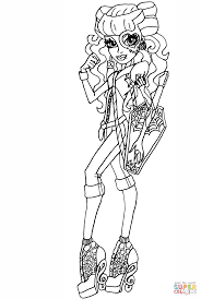 abbey bominable coloring pages monster high operetta coloring page free printable coloring pages