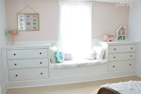 Built In Window Bench Seat Double Dresser Window Seat Built In With Ikea Hemnes