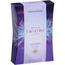 trojan vibrations vibrating twister intimate massager latex trojan vibrations vibrating twister intimate massager latex condom walmart com