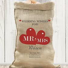 wedding wishes birmingham personalised hessian wedding sack wedding wishes