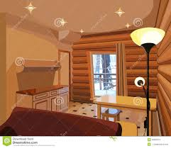 Wooden Interior by Cartoon Interior In A Wooden House Stock Vector Image 46685314