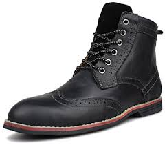s boots with laces amazon com kunsto s leather brogue boots lace up