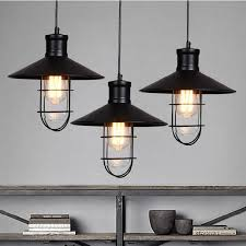 black rustic pendant lights vintage industrial pendant lamp led