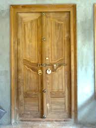 kerala style wooden front door double door designs bavas