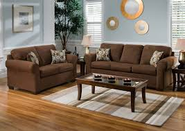 Blue Living Room Ideas Beautiful Blue Living Room With Brown Furniture Chocolate
