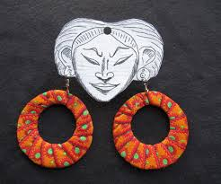 cardboard earrings diy fabric hoop earrings 20 steps with pictures