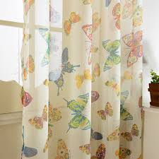 Curtains Printed Designs Brand New Butterfly Design Window Tulle Printed Sheer Curtains