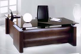 Office Desk With Cabinets Stunning Modern Office Table With Glass Top Photos Liltigertoo