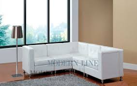 Modular Leather Sectional Sofa Modern Line Furniture Commercial Furniture Custom Made