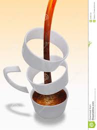 Unusual Coffee Mugs by Coffee Pouring In Unusual Cup Royalty Free Stock Photos Image