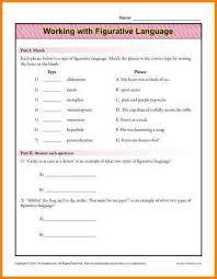 all worksheets figurative language worksheets grade 6