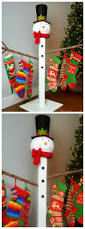 how to make a holiday stocking holder diy and life hacks pinterest
