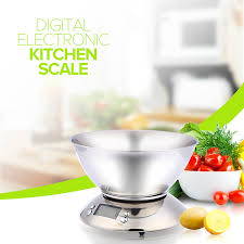 pr馗ision cuisine stainless steel kitchen scale 5kg 1g electronic scale kitchen food