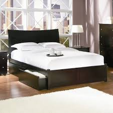 modern bed frame with storage genwitch