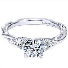 twisted shank engagement ring gabriel twist shank engagement ring
