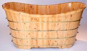 Wood Bathtubs Alfi Brand Ab1105 63 U0027 U0027 Free Standing Solid Cedar Wooden Bathroom Tub