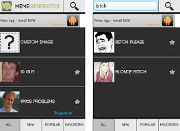 Bitch Please Meme Generator - custom meme generator app for android with funny inbuilt templates