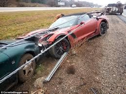 corvette car crash 2015 chevrolet corvette in second horrific car crash during