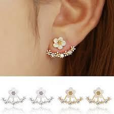 jacket earrings buy studded flower ear jacket earrings by amaryllis on opensky