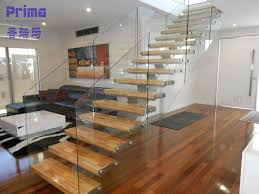 indoor interior solid wood stairs wooden staircase stair top wood glass stairs design china simple glass railing wood