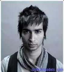 spiked haircuts medium length man spiky haircut in medium length with long bang 266x300 man