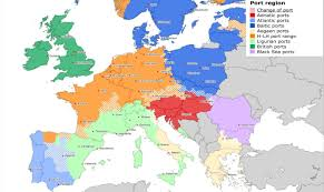 Map Northern Europe by Transport Via Northern European Ports More Sustainable Than Via