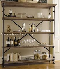 French Country Bookshelf French Country Style Wood Bookcase Industrial Loft Iron Floor To