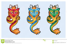 cute chinese dragon illustration art stock vector image 56725237